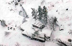 義大利地震引雪崩致35人被埋死亡(現實好萊塢災難大片)