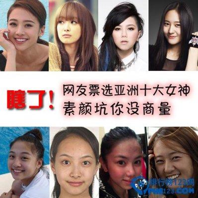 2014亞洲女神排名 亞洲十大女神排行榜