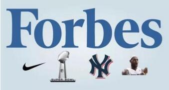 2019福布斯體育品牌排行榜 最具價值球員球隊體育公司