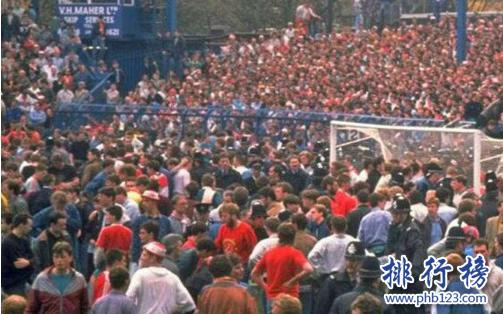 世界十大足球慘案:海瑟爾慘案至300人受傷,英格蘭被禁賽5年