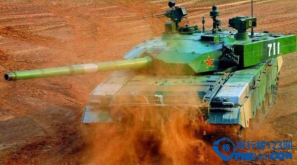 中國99式主戰坦克。