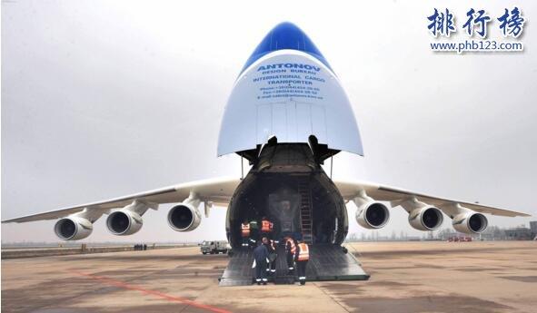 世界上最大飛機,安-225運輸機長84米重175噸(貨艙能裝下一輛高鐵)