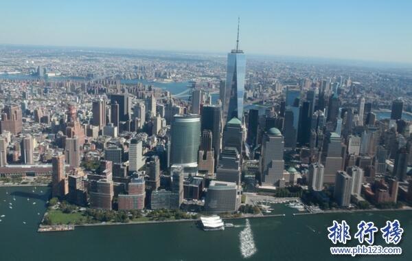 美國城市面積排行榜:紐約8683km²居首,42城面超1000km²