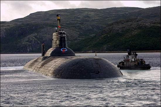 俄羅斯颱風級潛艇圖片